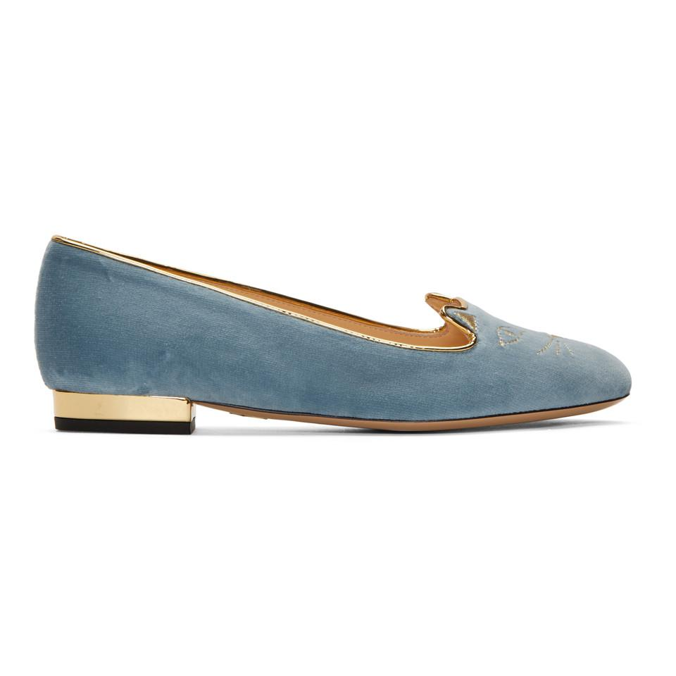 Charlotte Olympia SSENSE Exclusive Patent Mid-Century Kitty Flats uaWmg
