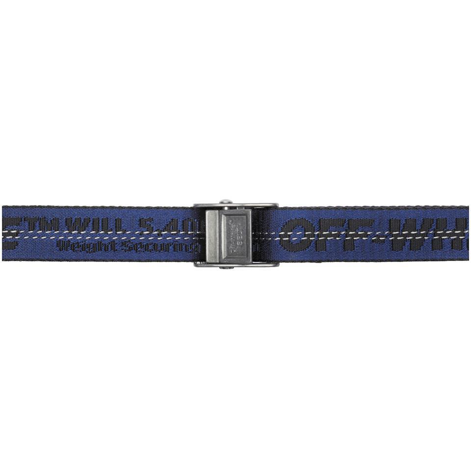 Lyst - Ceinture bleue et noire Mini Industrial Off-White c o Virgil ... 8af4398e0a1
