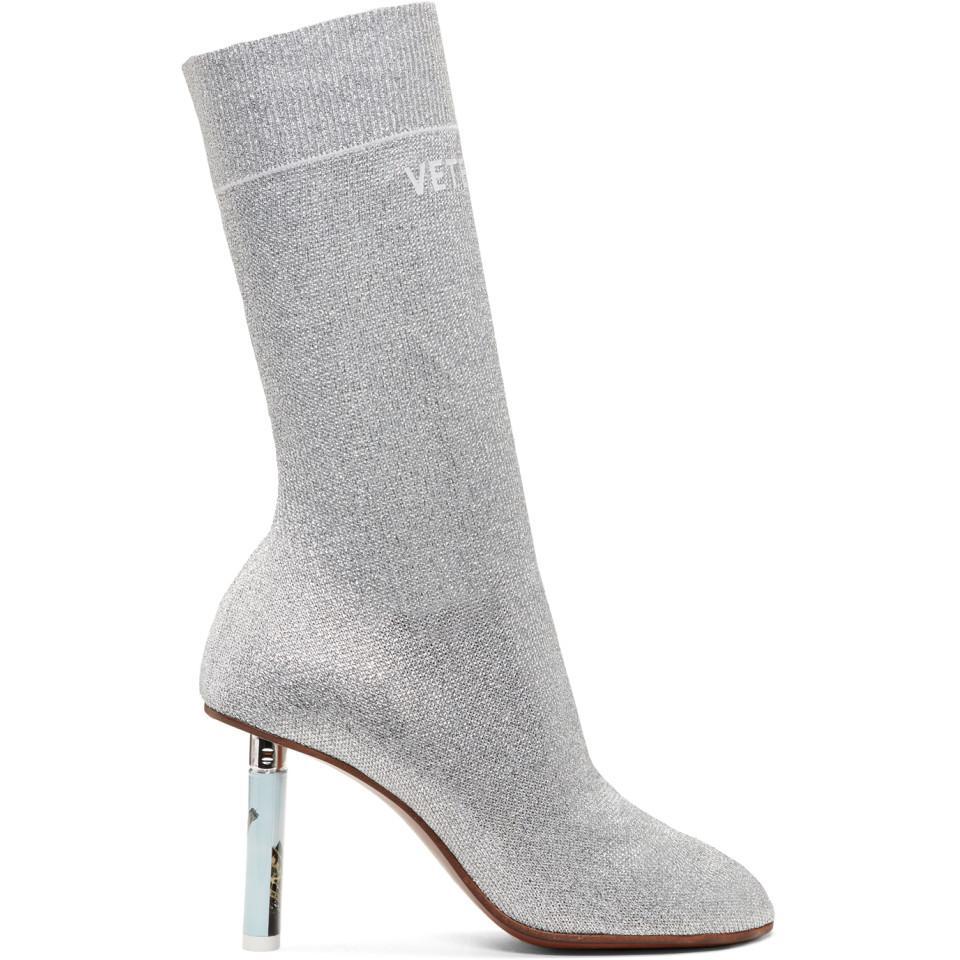 Vetements SSENSE Exclusive Lurex Lighter Sock Boots G8s0AX