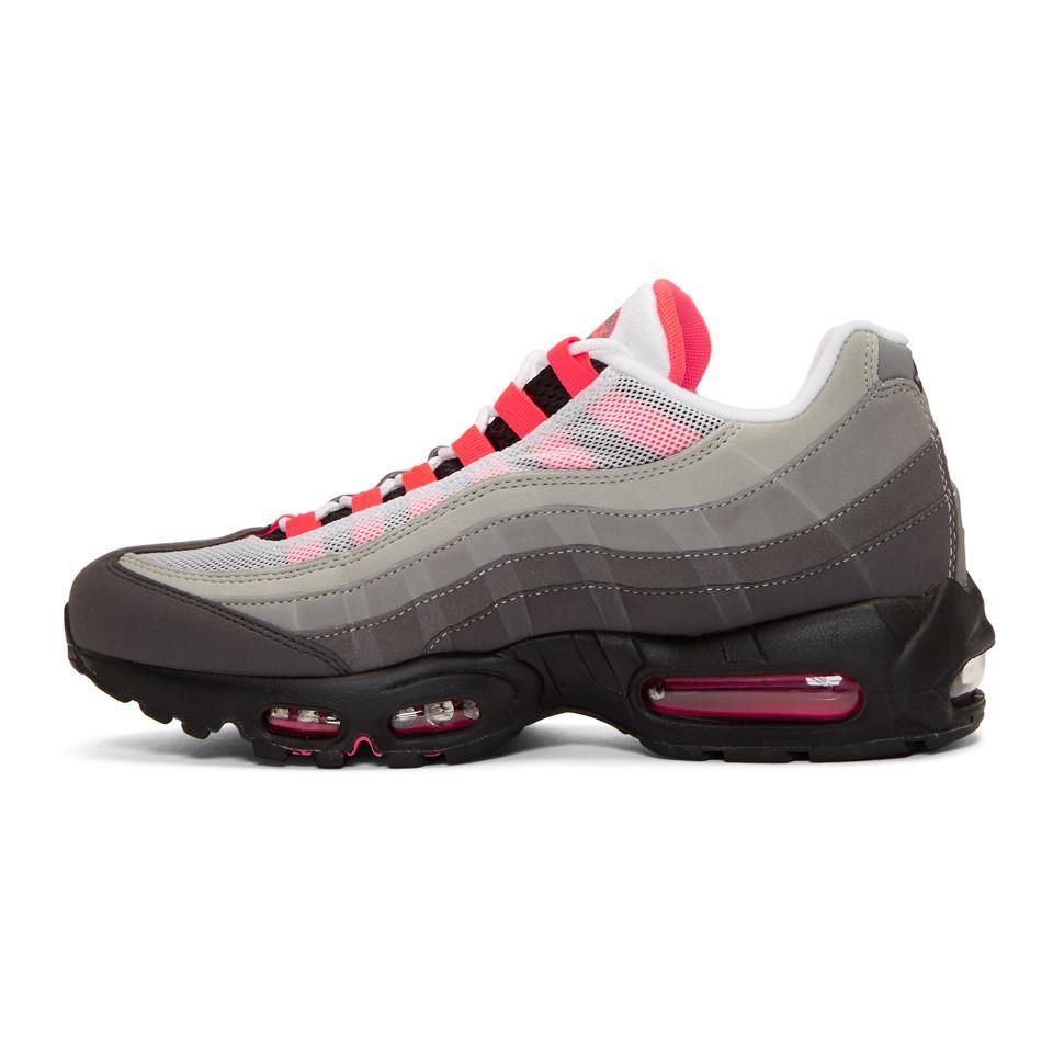 fe4c6d7ab419b ... best price grey and pink air max 95 og sneakers lyst. view fullscreen  1ec7b 41450
