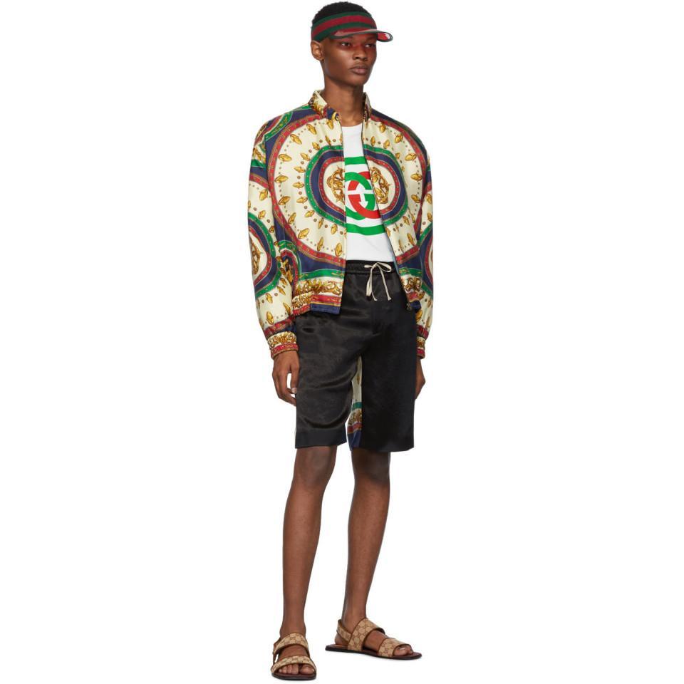6b8eca580 Gucci Green Silk Mermaid Bomber Jacket in Green for Men - Lyst