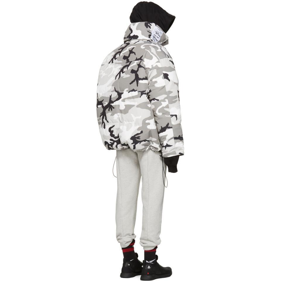 Lyst - Parka reversible a imprime camouflage gris edition Canada ... 74e0a24d9816