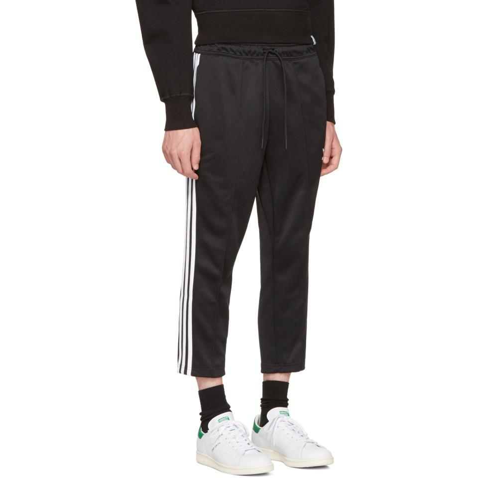 0357d9ac8 adidas Originals Black Sst Crop Lounge Pants in Black for Men - Lyst