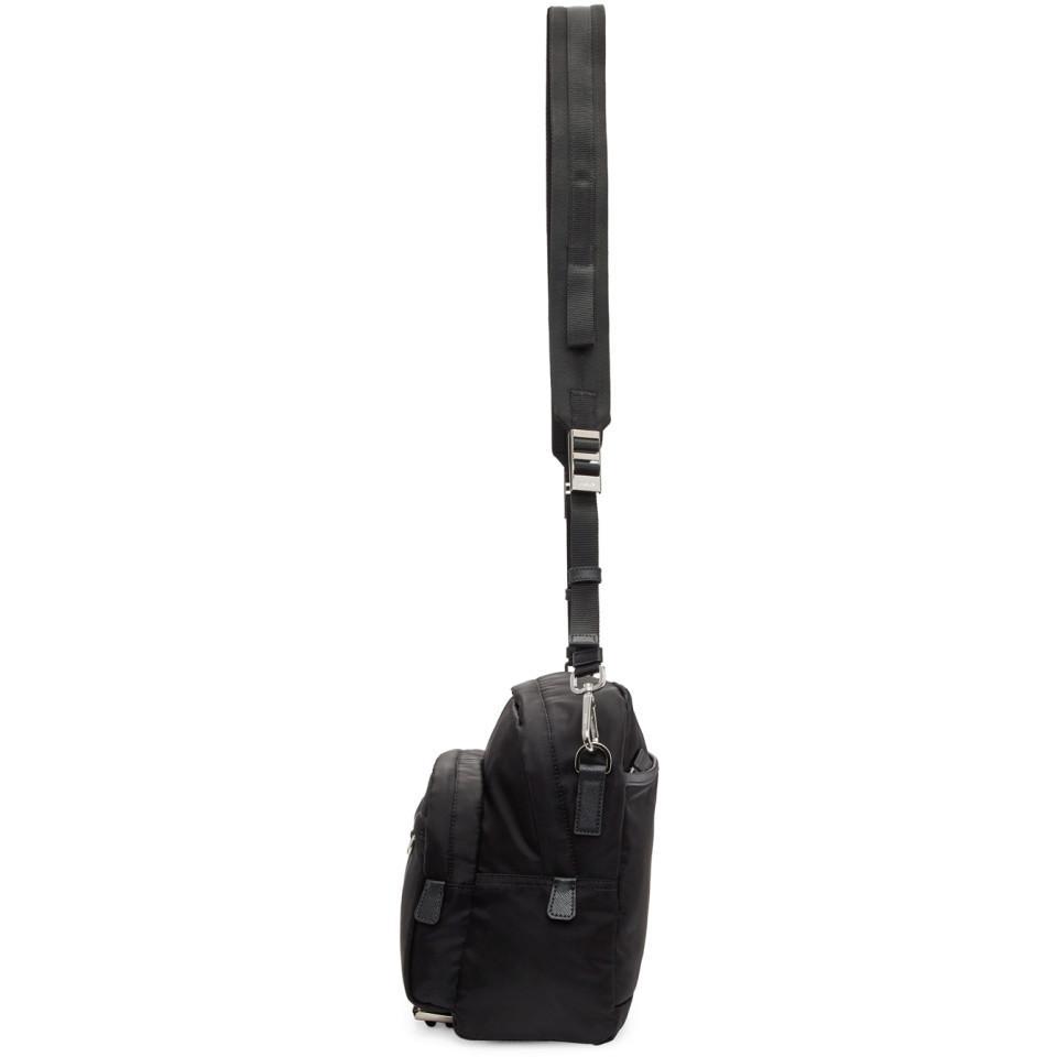 e64642964836 Lyst - Prada Black Mountain Messenger Bag in Black for Men