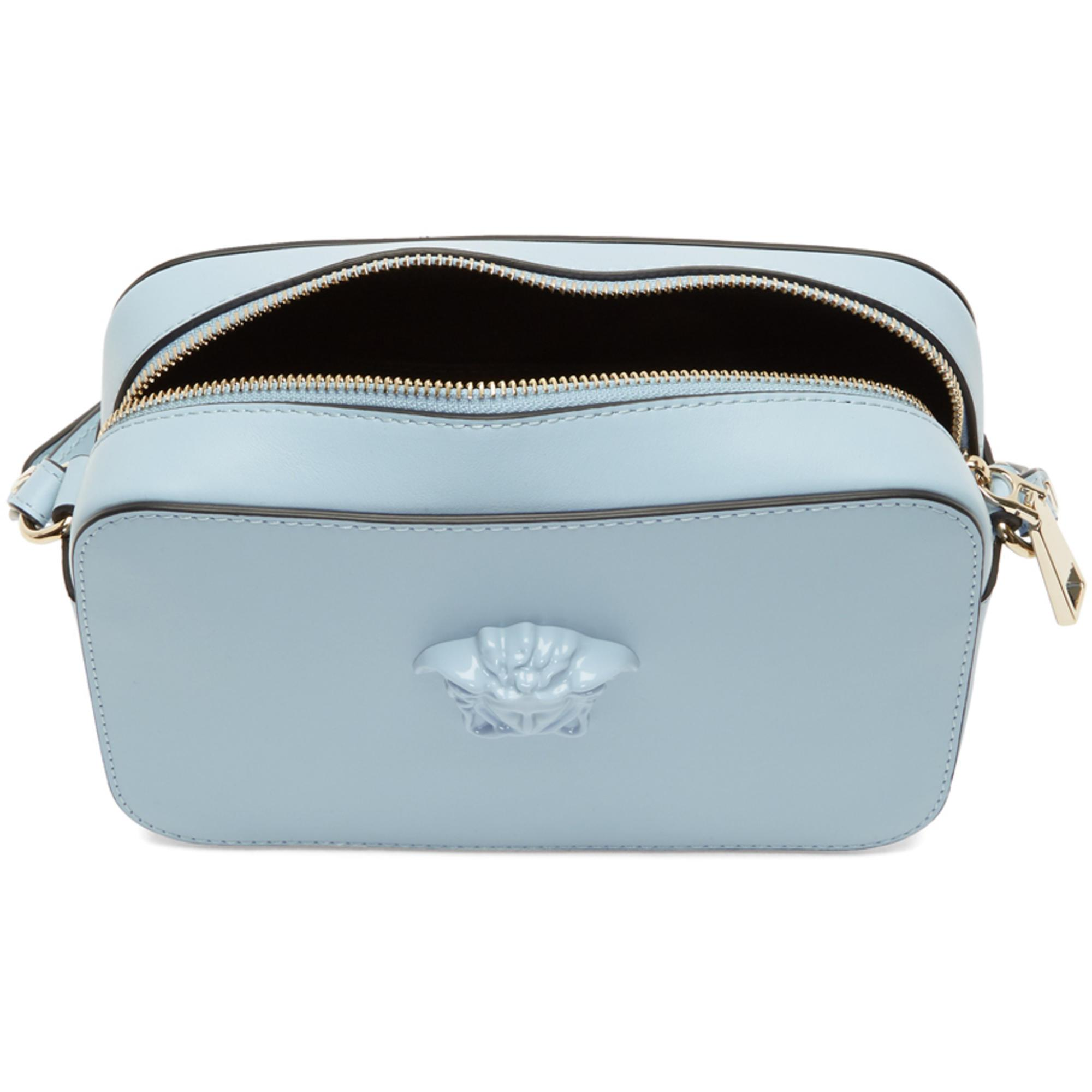 6e48884289 Lyst - Versace Blue Medusa Camera Bag in Blue