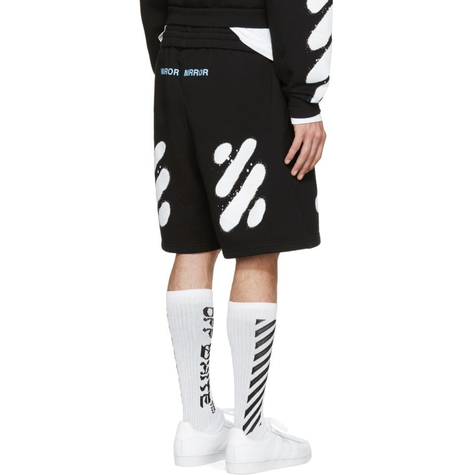 4c91bb1b4e55 Lyst - Off-White c o Virgil Abloh Black Spray Brushed Diagonals ...