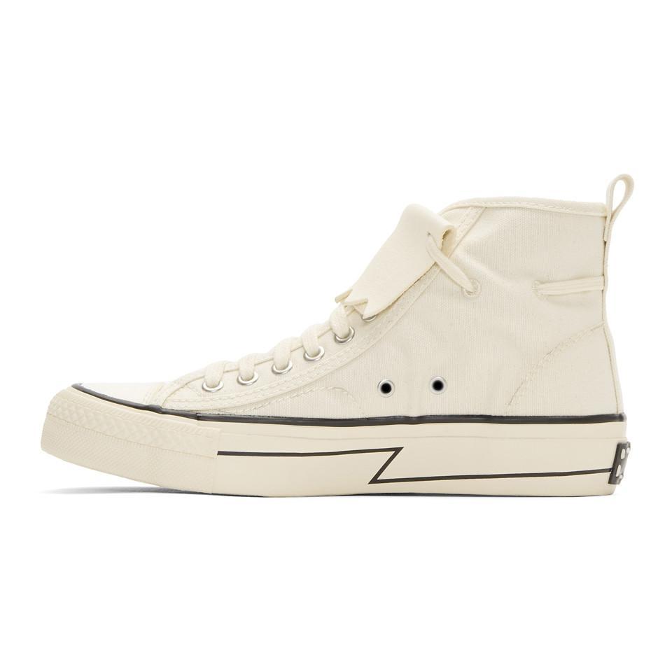 VISVIM Ivory Skagway Kiltie High-Top Sneakers R6z0Ae