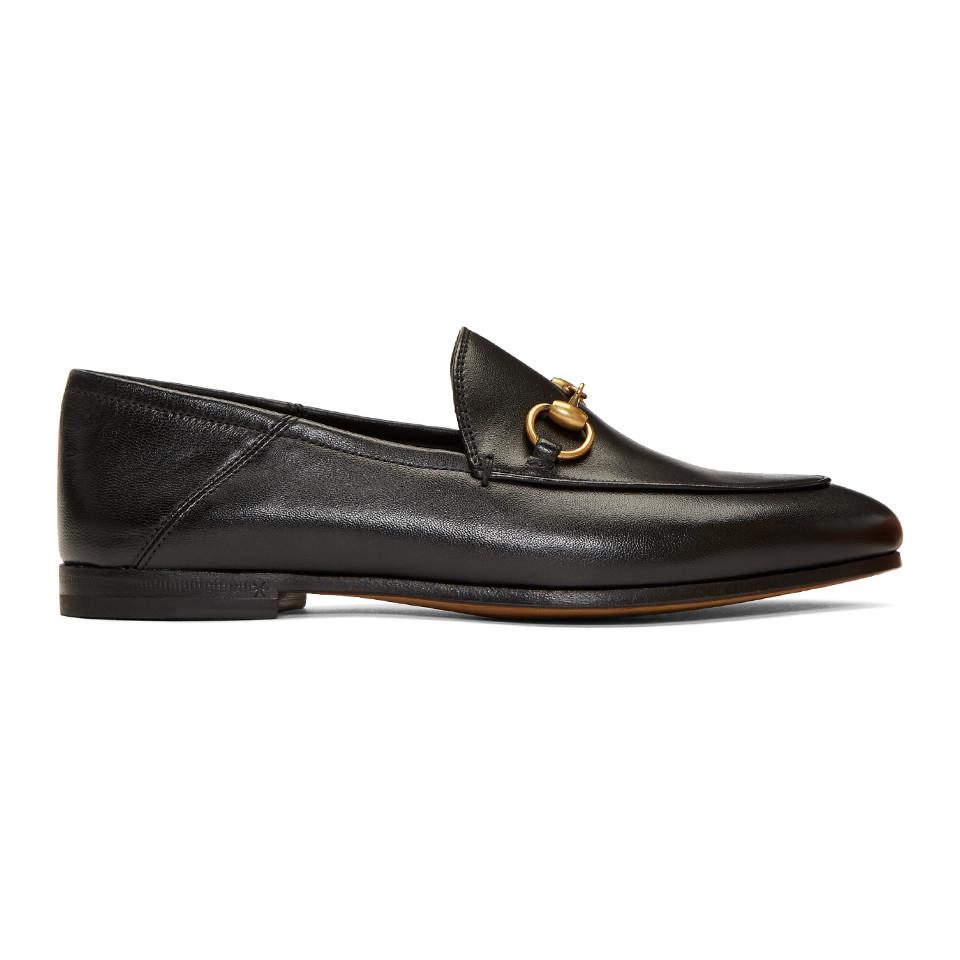44fc99f91 Gucci Black Brixton Crushback Loafers in Black - Save 14% - Lyst