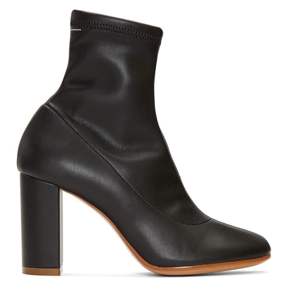 MM6 Maison Martin Margiela Black Pump-Sock Ankle Boots oHKYD
