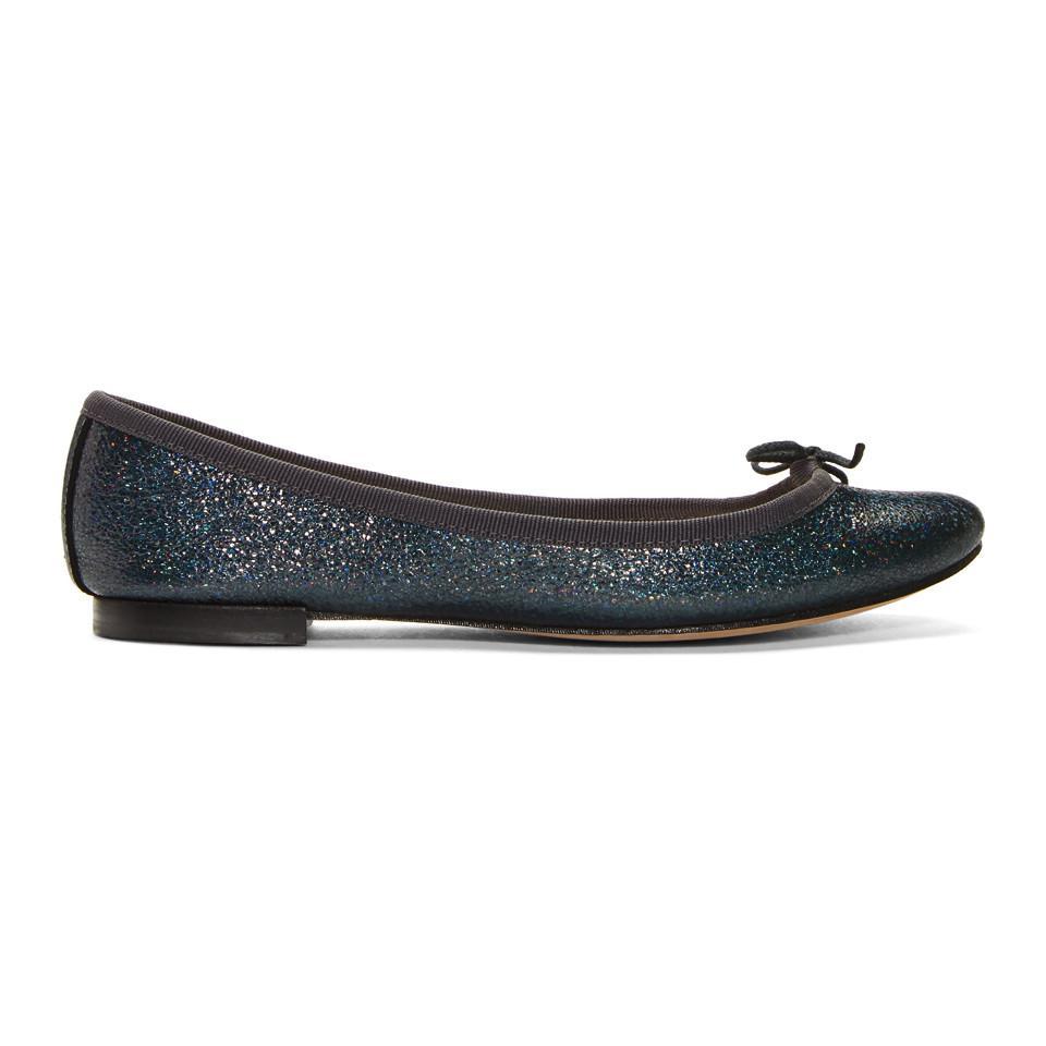Repetto Blue Glitter Cendrillon Ballerina Flats b3SECgQG63
