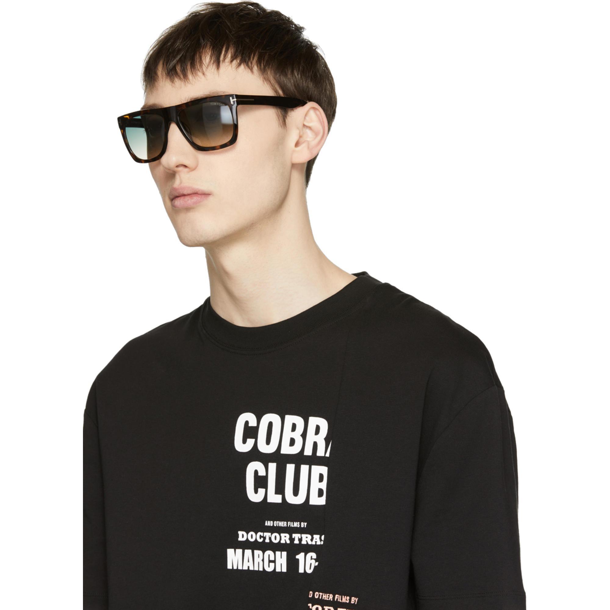 7b0f5d2fcce Lyst - Tom Ford Tortoiseshell Morgan Sunglasses in Black for Men