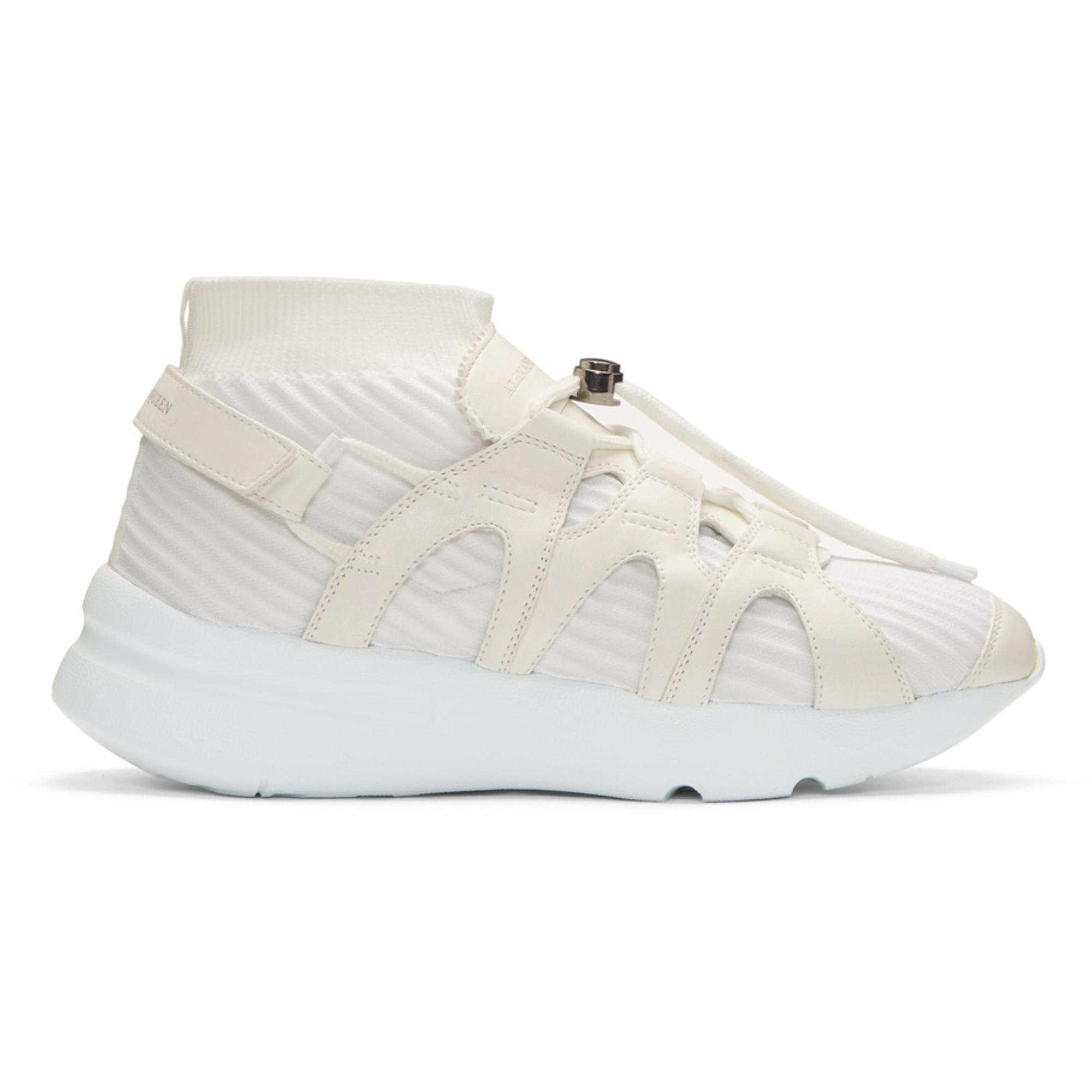 Alexander McQueen White Knit Sock Sneakers