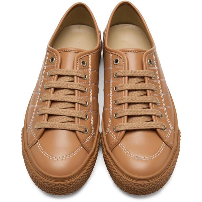 Stella McCartney Tan Contrast Stitch Sneakers w1tSueqgi