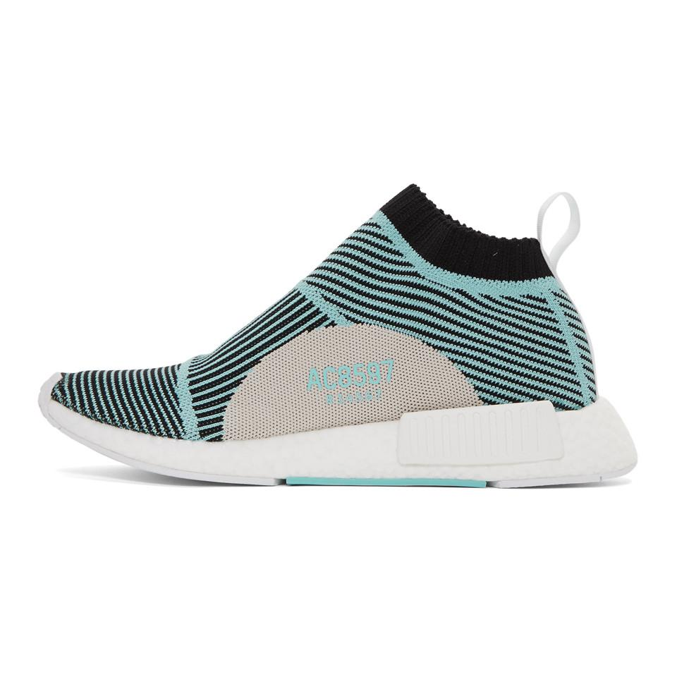 876a620616461 Lyst - adidas Originals Black And Blue Nmd Cs1 Parley Pk Sneakers in ...