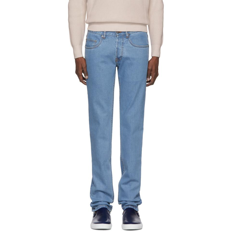 For Sale For Sale 2018 For Sale Brioni five-pocket denim trousers - Blue 3icM2HL