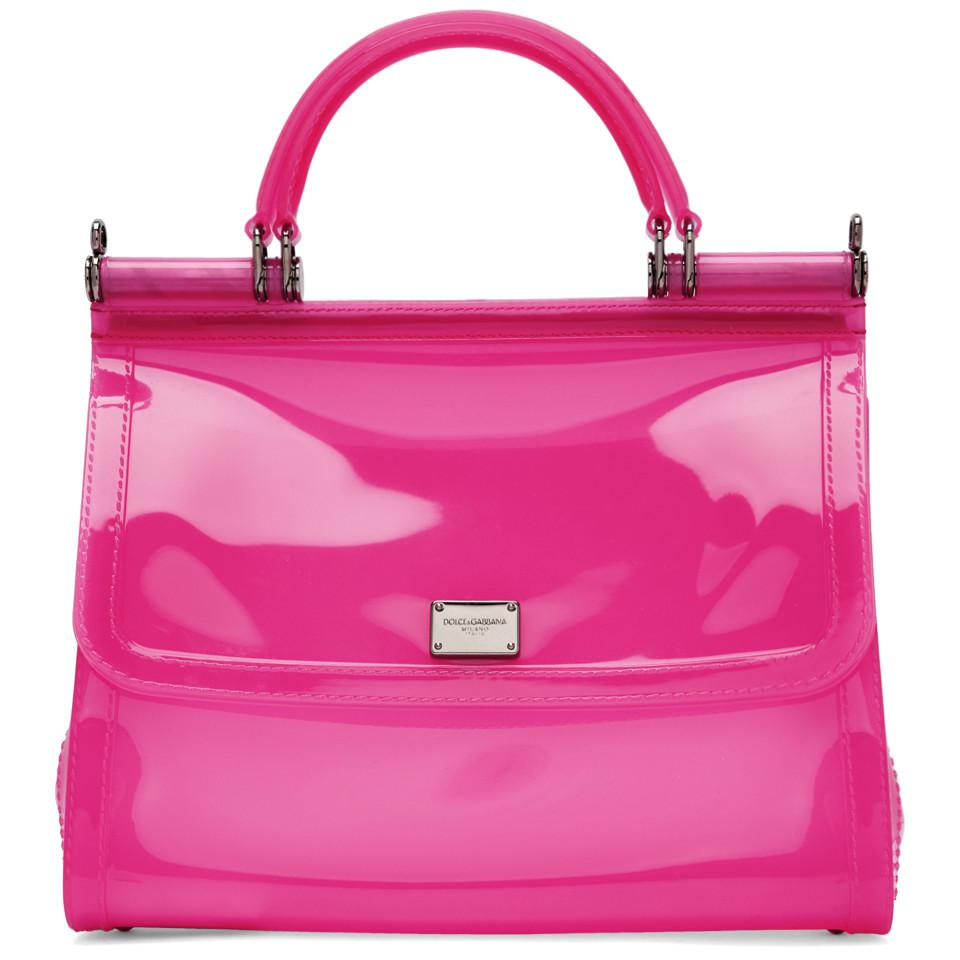 Dolce   Gabbana Pink Small Rubber Miss Sicily Bag in Pink - Lyst a23dc77748a