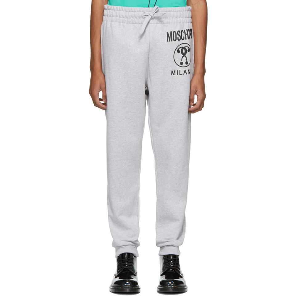 01d0d9b31fd7c Lyst - Moschino Grey Double Question Mark Lounge Pants in Gray for ...