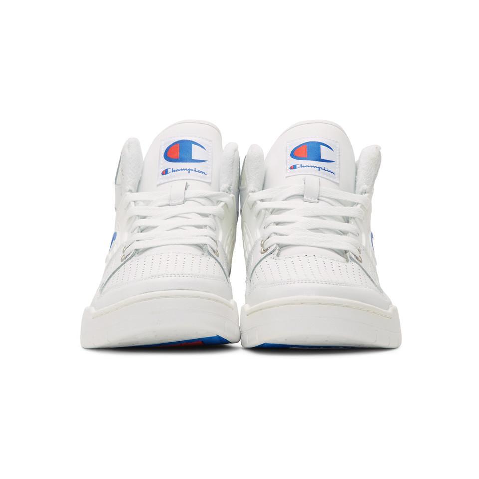 2b0b853ac2b Champion - White 3 On 3 Sp High-top Sneakers for Men - Lyst. View fullscreen