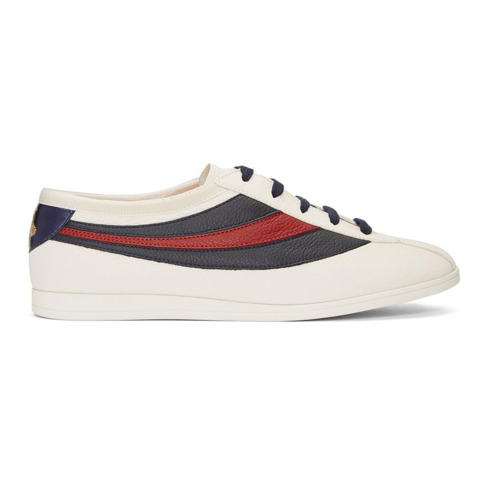 9abe1a863 Gucci Off-white Competition Sneakers in White for Men - Lyst