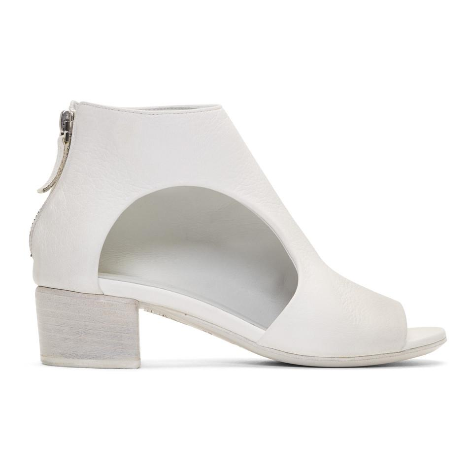 Marsèll White Bo Sandalo Boots