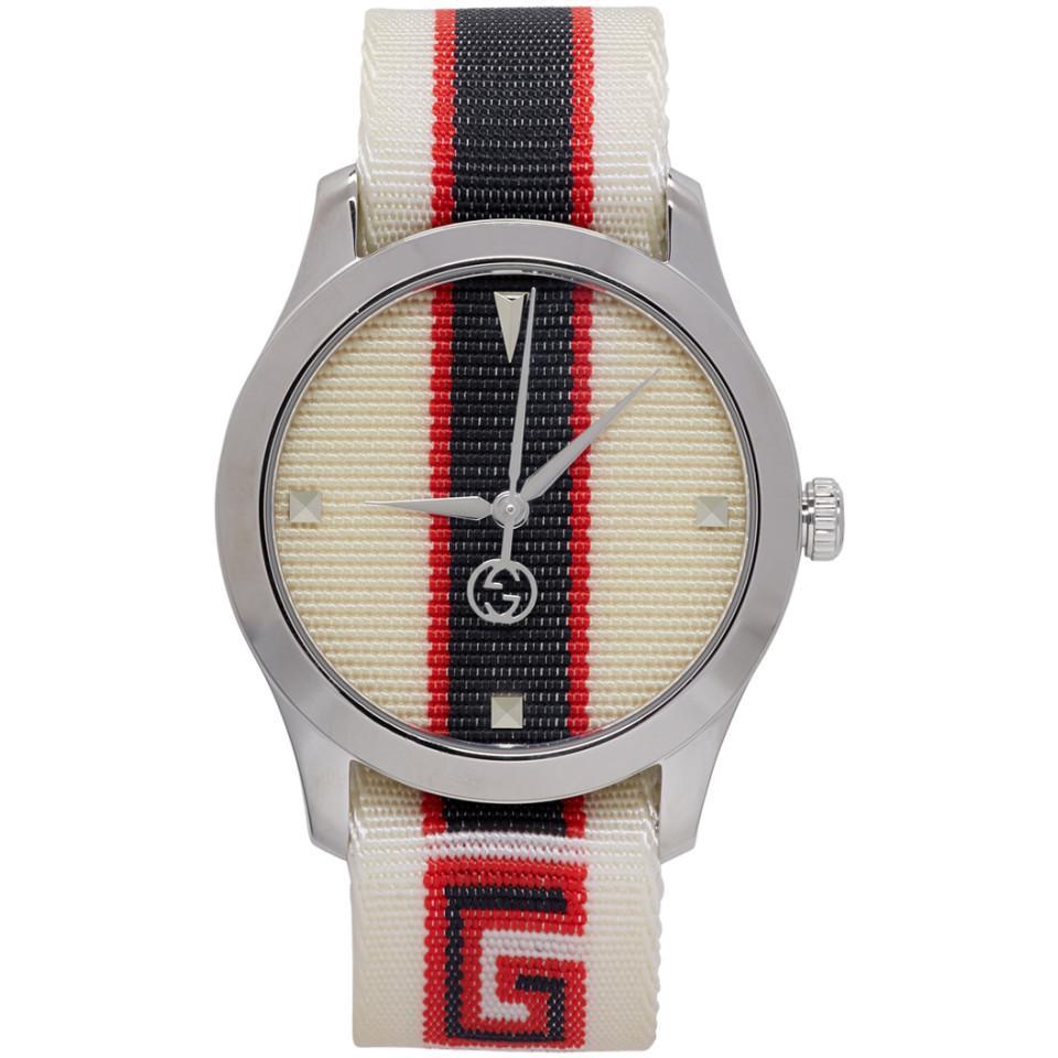 a84b23edc29 Lyst - Gucci White G-timeless Logo Watch for Men