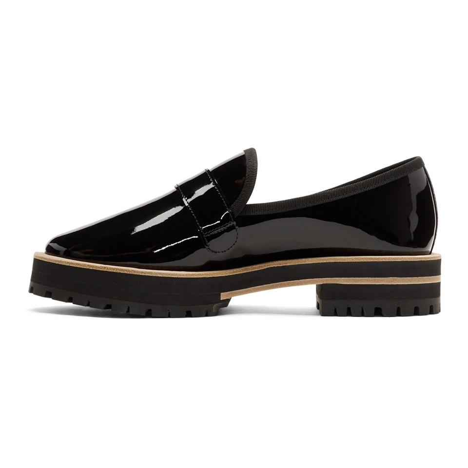 Repetto Black Gaylor Lug Sole Loafers zhZSWKXiA