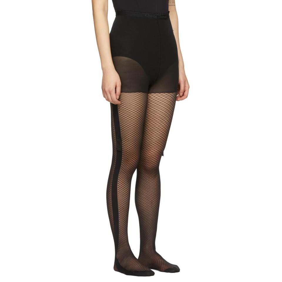 672f447d91d Chantal Thomass Black Fishnet Tights in Black - Lyst