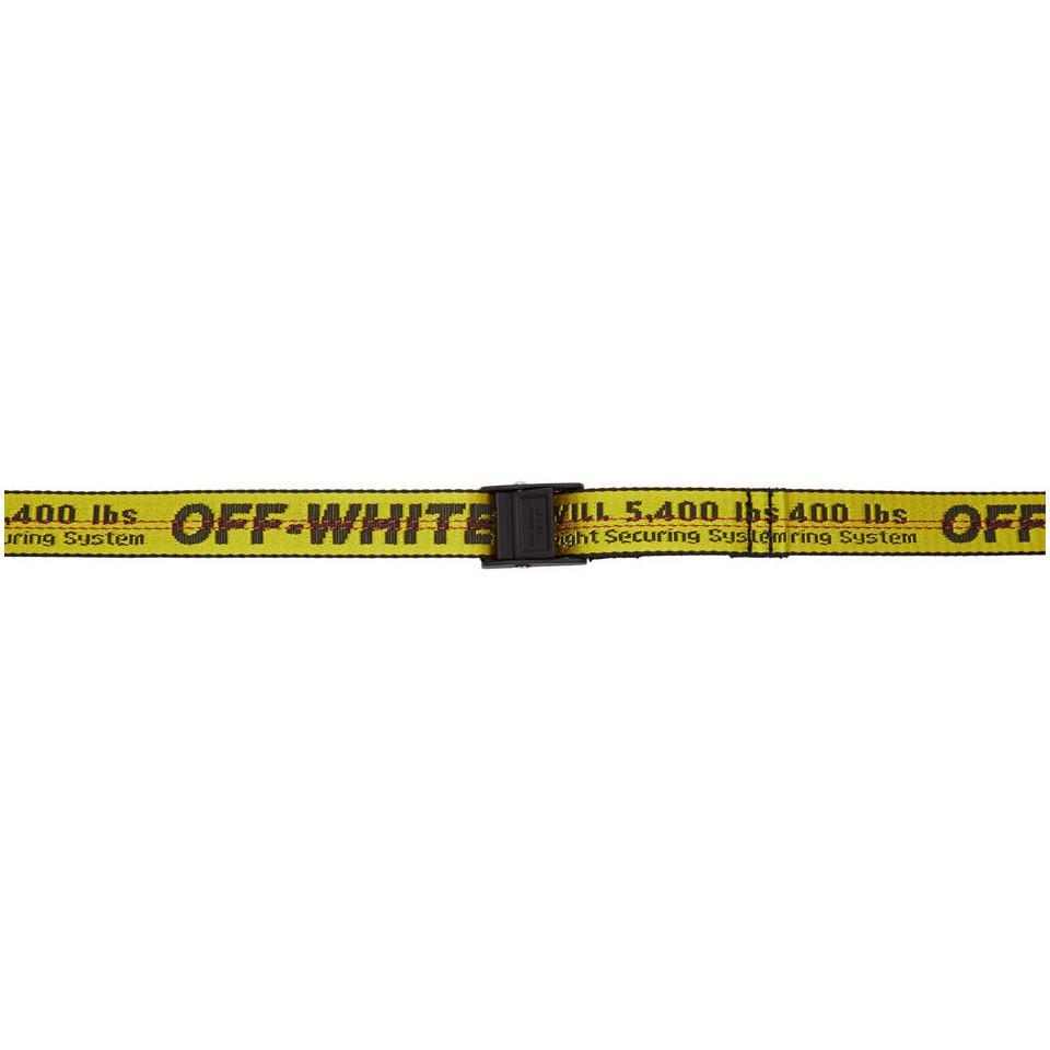 eaa9eb282408 Off-White c o Virgil Abloh. Women s Yellow And Black Mini Industrial Belt