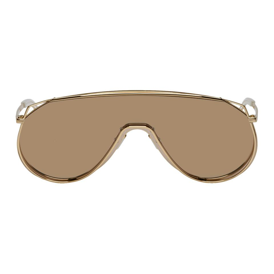 b7a3facb5054 Gentle Monster Gold And Pink Afix Sunglasses for Men - Lyst