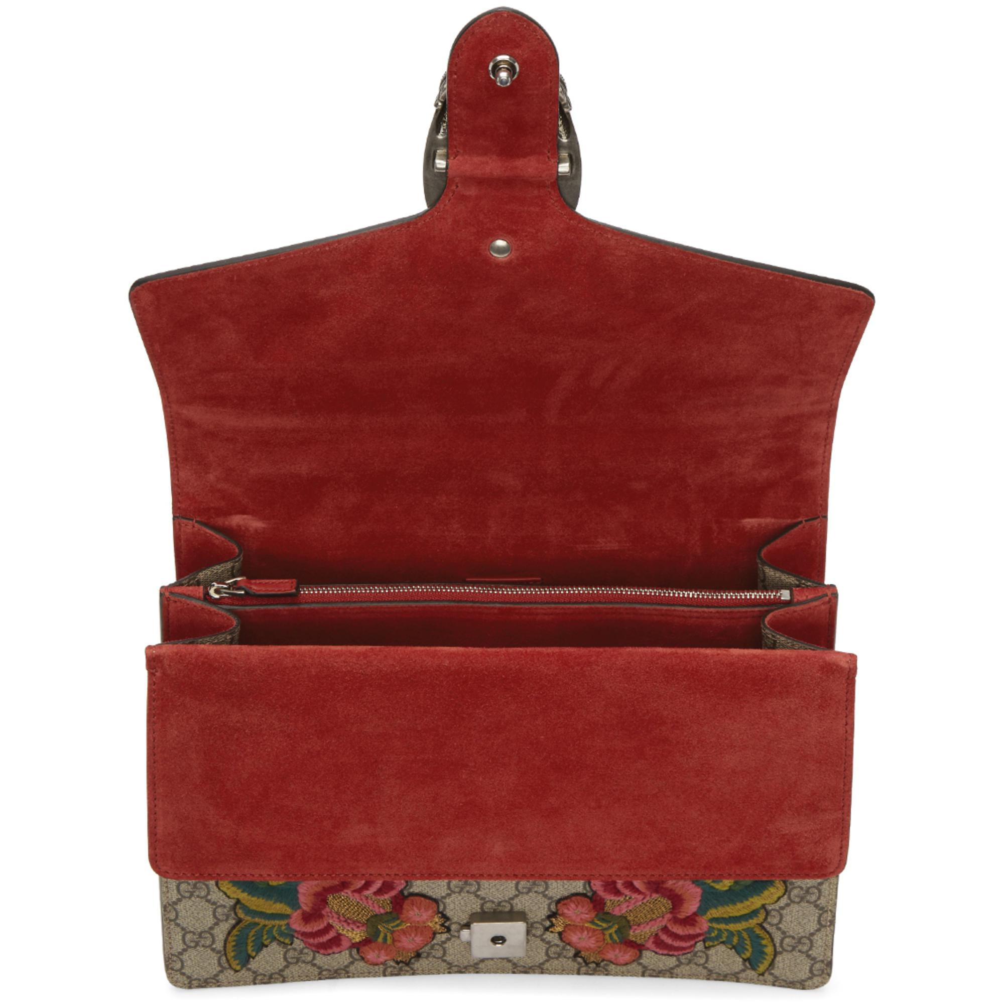 7360df5bb Gucci Multicolor Medium Gg Supreme Dionysus Floral Moth Bag - Lyst