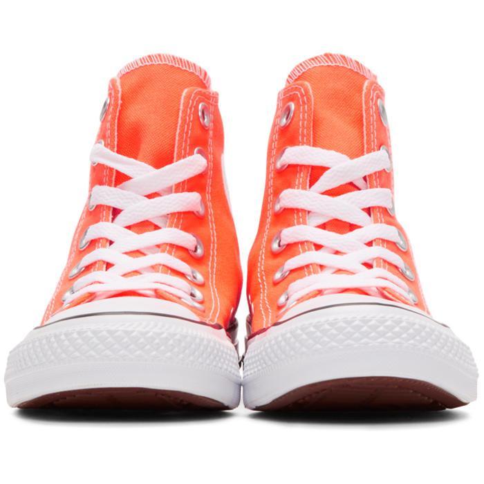 3c1e8f45461907 Lyst - Converse Orange Classic Chuck Taylor All Star Ox High-top ...