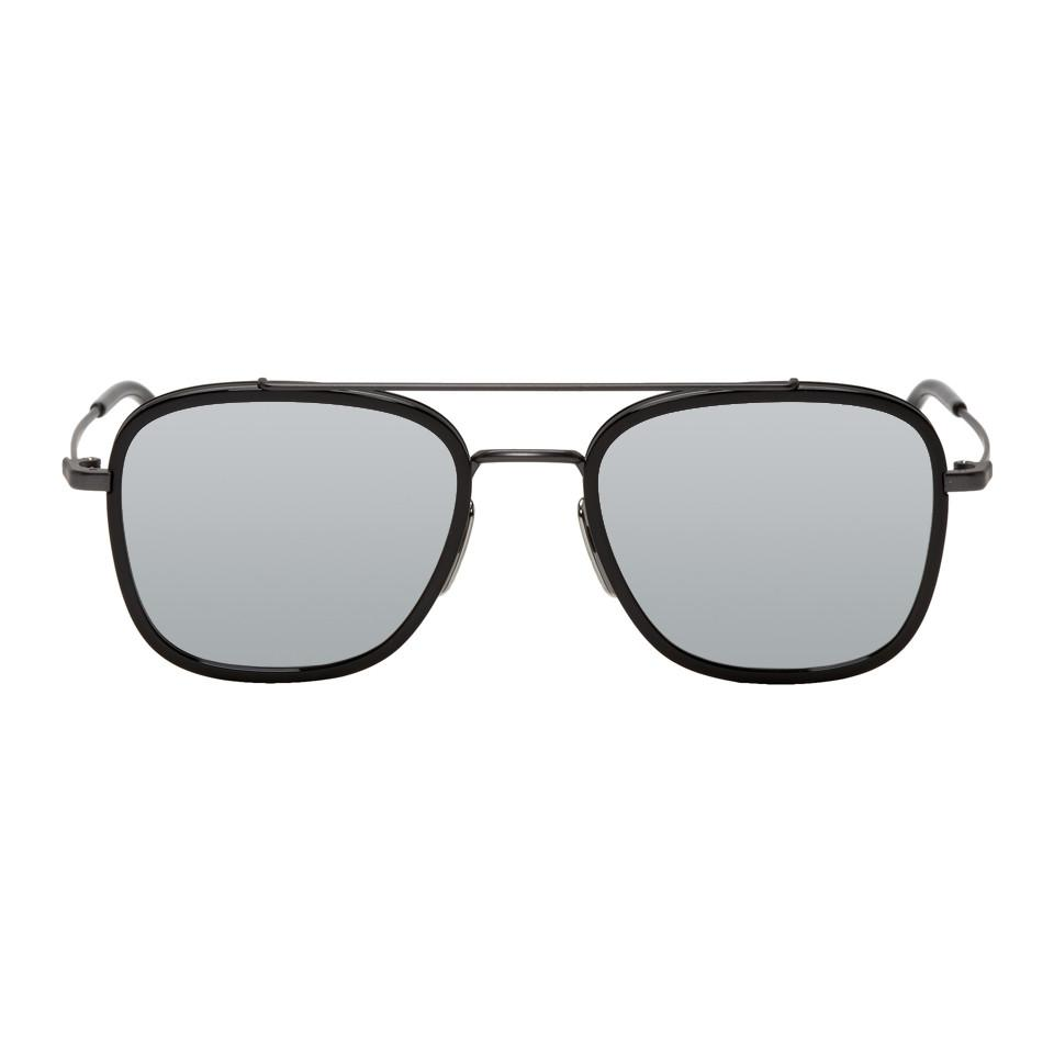 2dea7eac632 Thom Browne Black And Grey Tb-800 Sunglasses for Men - Lyst
