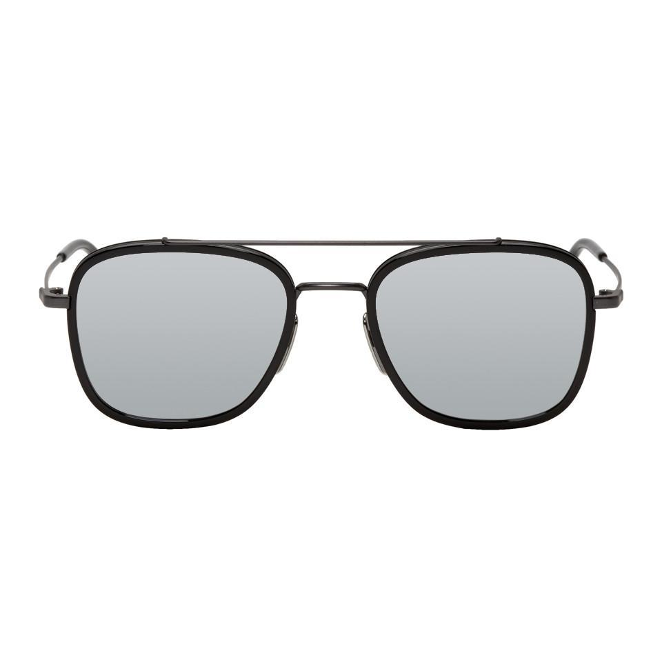 378670cc6483 Thom Browne Black And Grey Tb-800 Sunglasses for Men - Lyst
