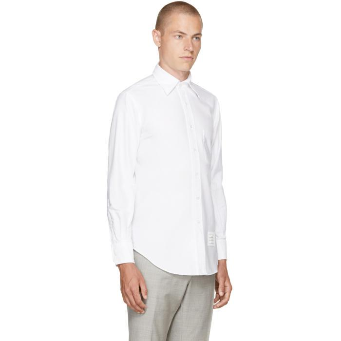 Lyst thom browne white detachable point collar shirt in for Thom browne white shirt