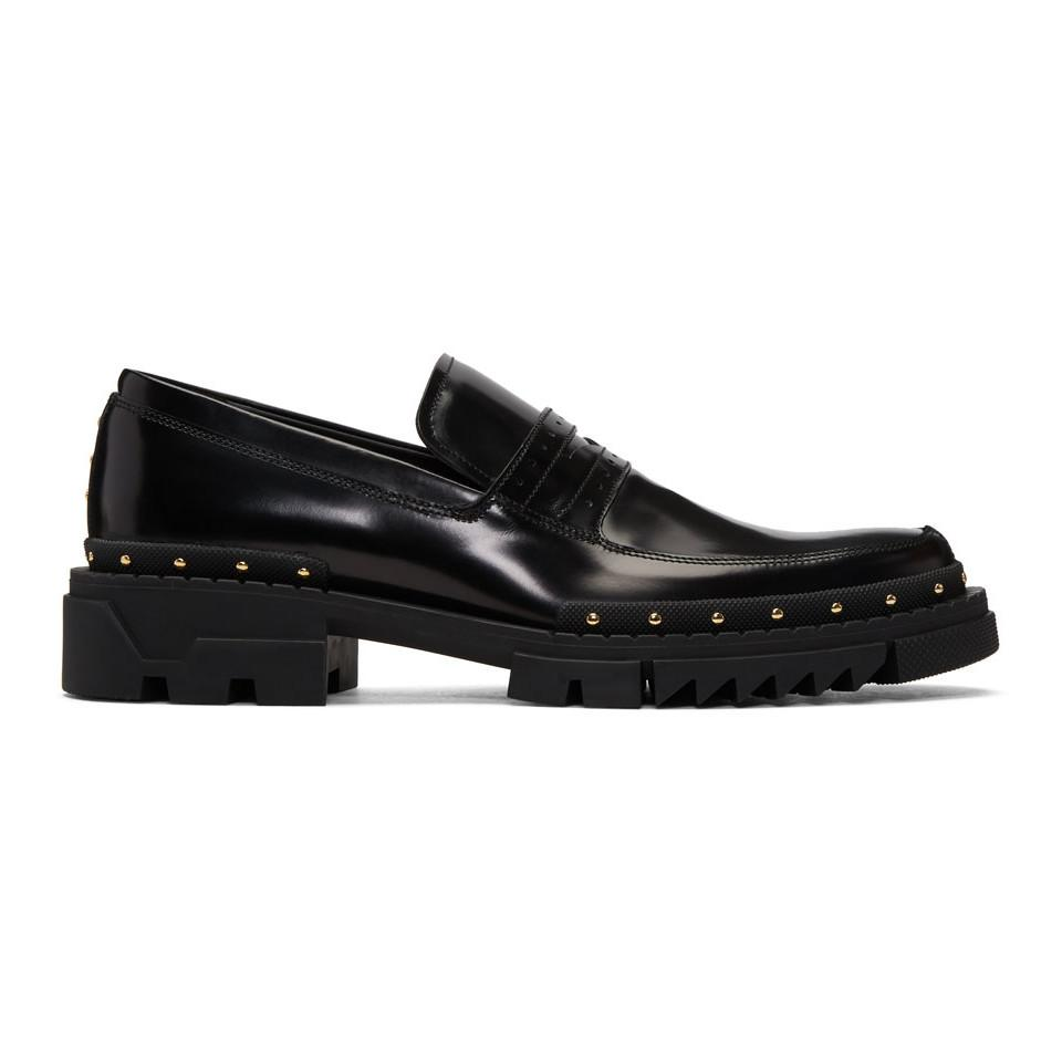 VERSACE Studded Loafers mcZr79