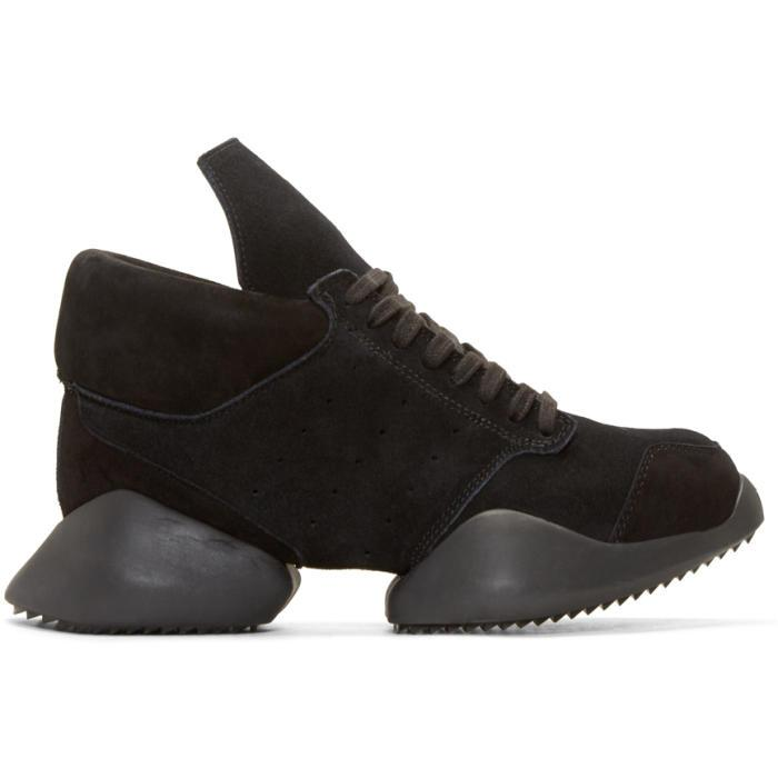 the latest c984f 087b4 Lyst - Rick Owens Black Suede Island Sole Adidas By Sneakers in ...