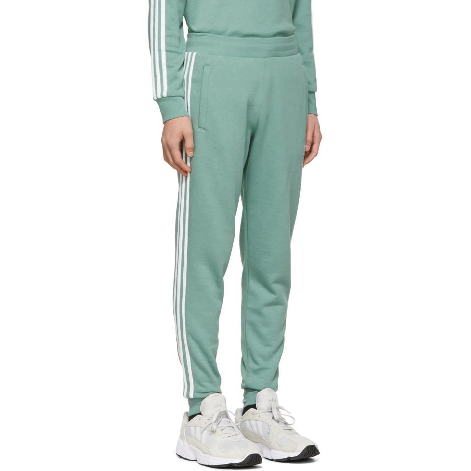 dde80dd9f4c5 Adidas Originals - Green 3-stripes Lounge Pants for Men - Lyst. View  fullscreen