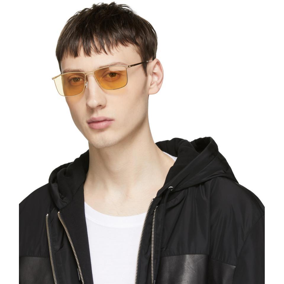 03ae67a97e8 Lyst - Mykita Gold Berge Sunglasses in Metallic for Men