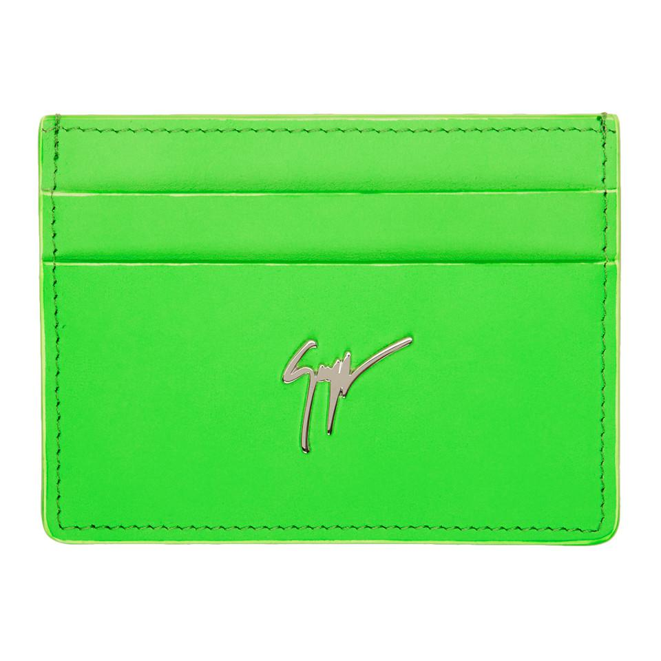 Yellow Neon Logo Card Holder Giuseppe Zanotti rC1ouXhj