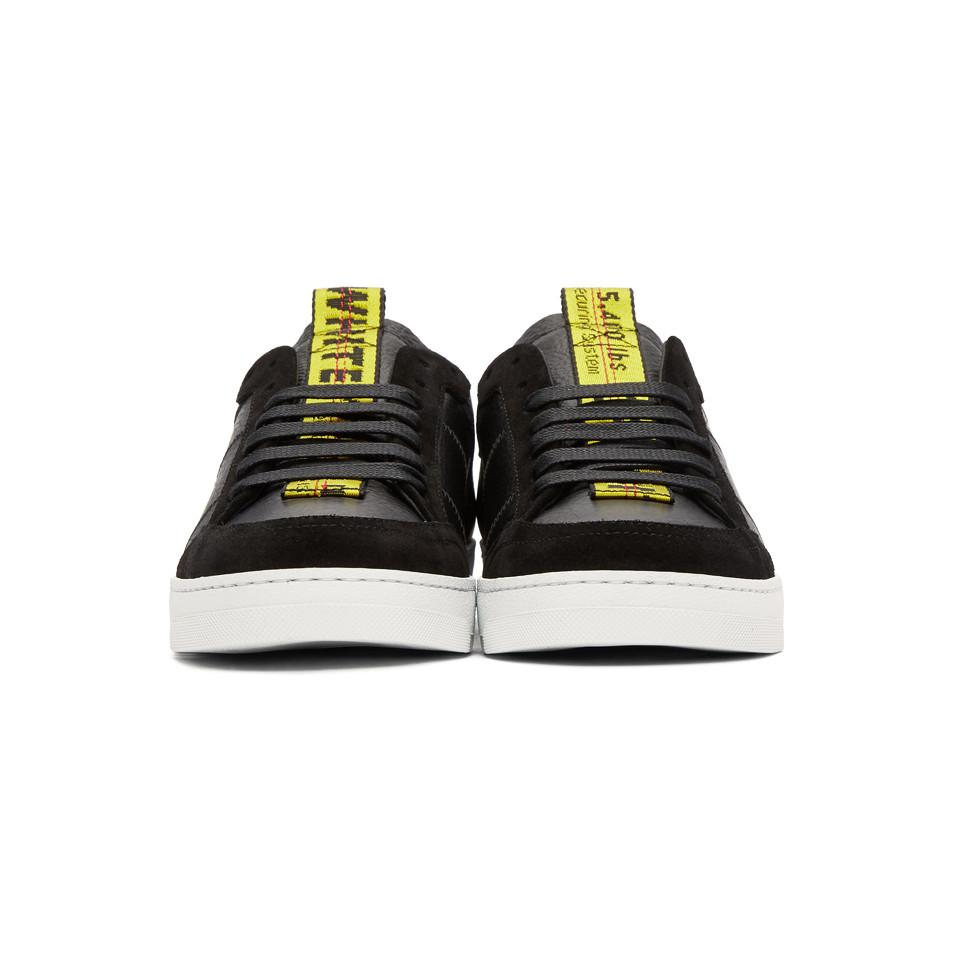 Black and Yellow Belt Sneakers Off-white DjZG9sLNH