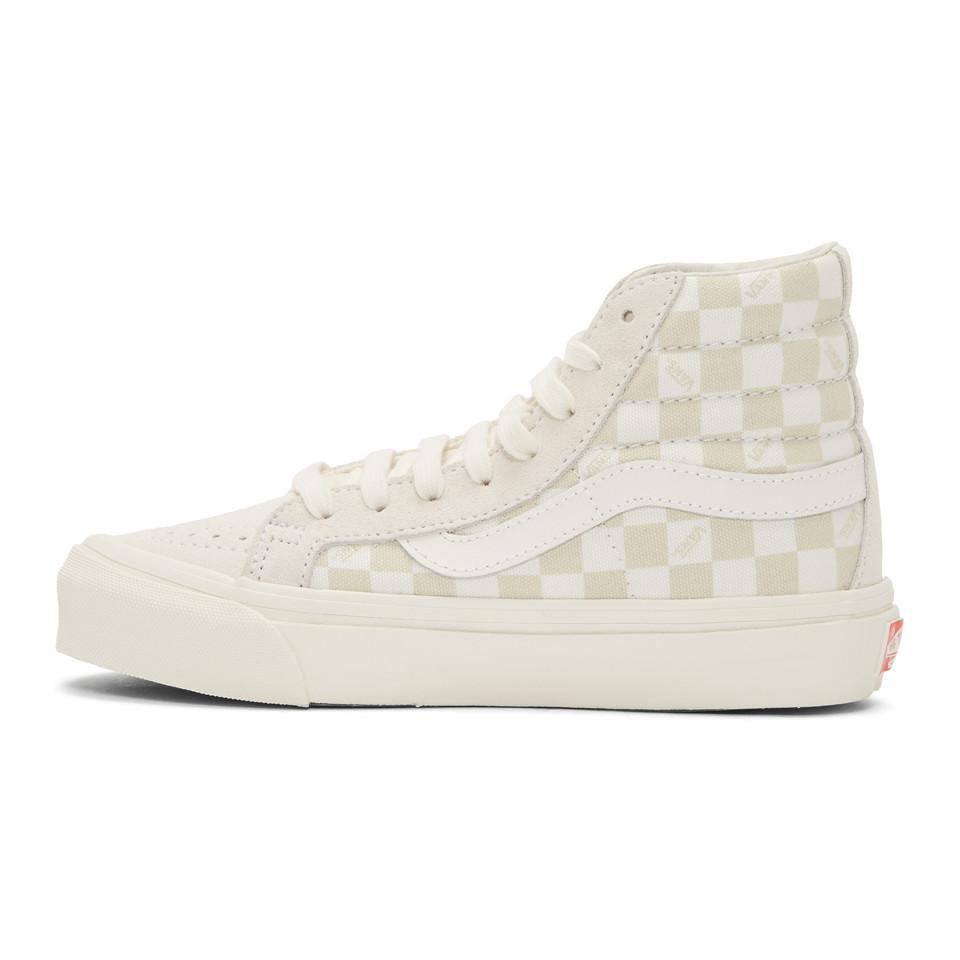 Beige and Off-White OG Sk8-Hi LX Sneakers Vans VhaV34u