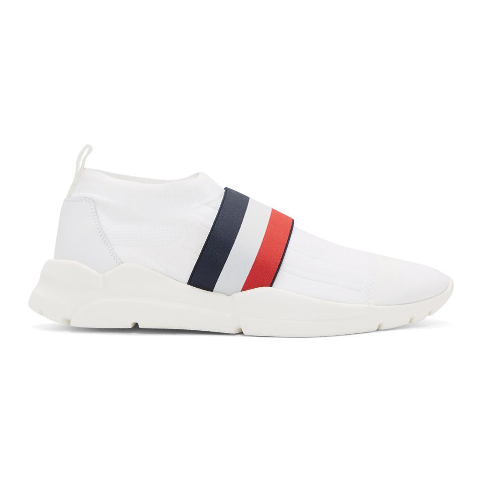 1cd63d924 Moncler White Adon Slip-on Sneakers in White for Men - Lyst