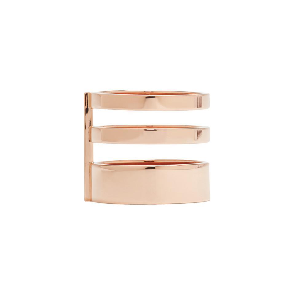 Rose Gold Triple Band Berbere Ring Repossi RlPdo7kO7W