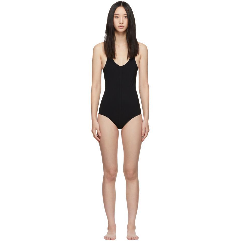 9bd2ffd98 Lyst - Rick Owens Black Crossback One-piece Swimsuit in Black