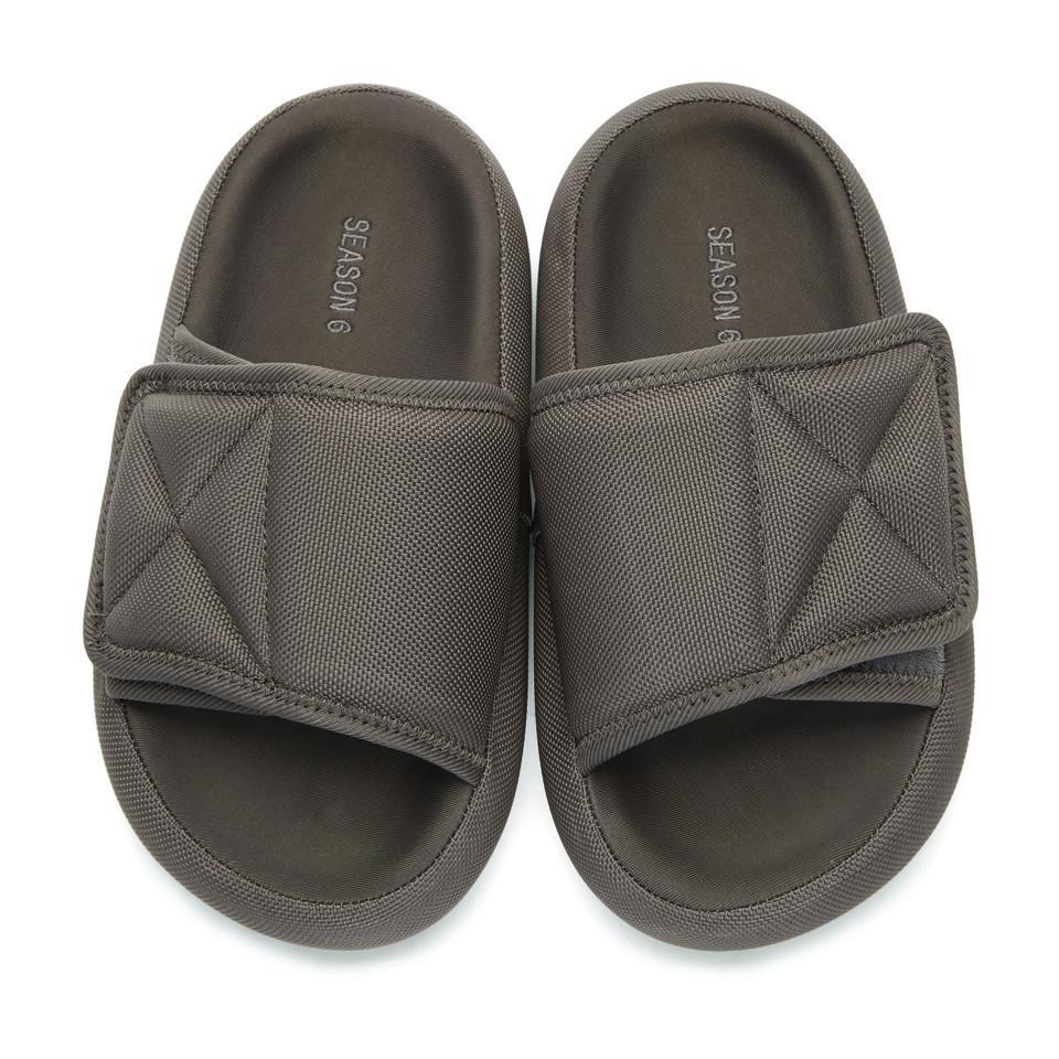 cf459df49122 Lyst - Yeezy Grey Nylon Slipper Sandals in Gray for Men
