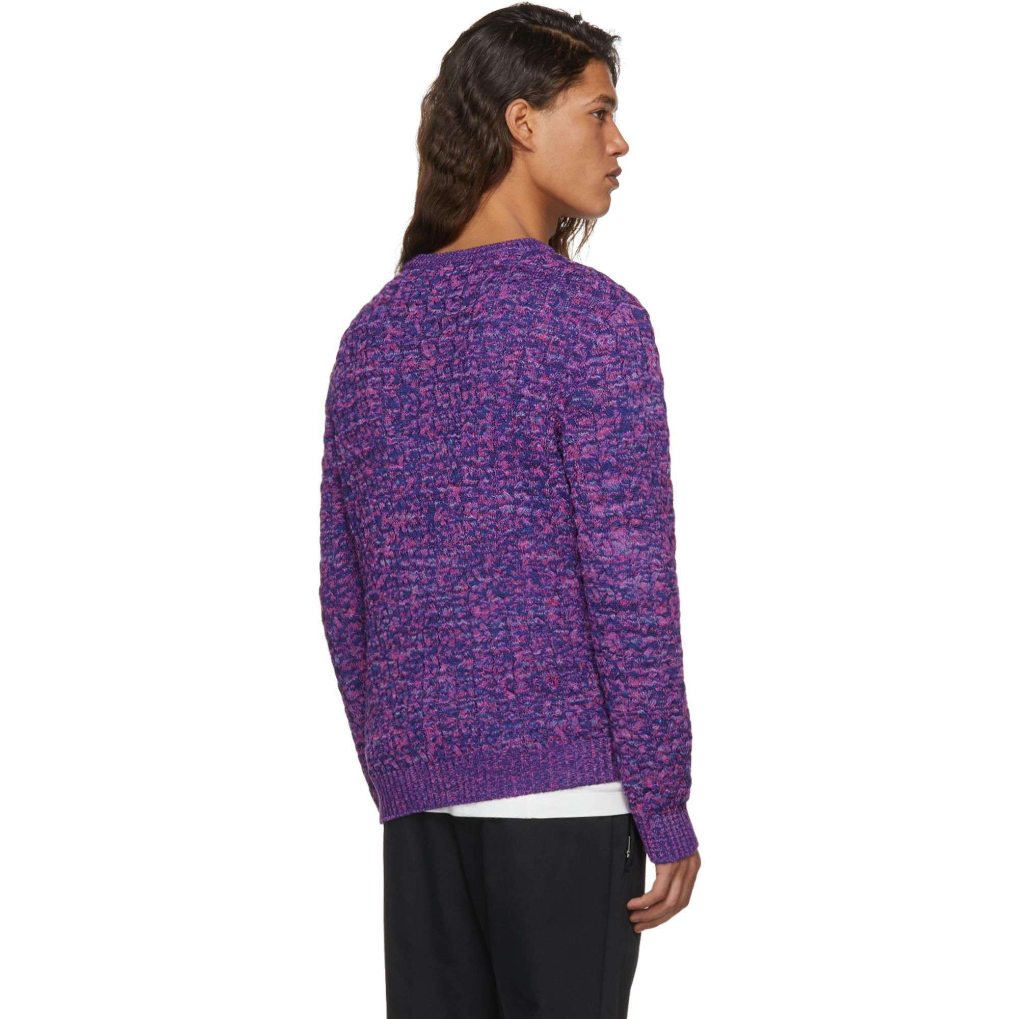 Cheap Clearance Purple And Blue Cable Knit Sweater Missoni Discount