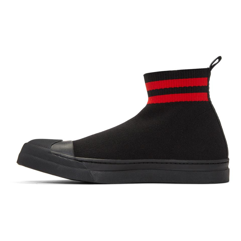 Black and Red Skater Boot High-Top Sneakers Neil Barrett Best Seller Cheap Price uEiQj