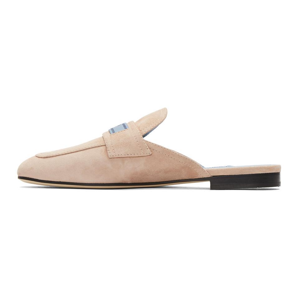 Prada White 'Prada Tag' Slippers 2bkl9C1