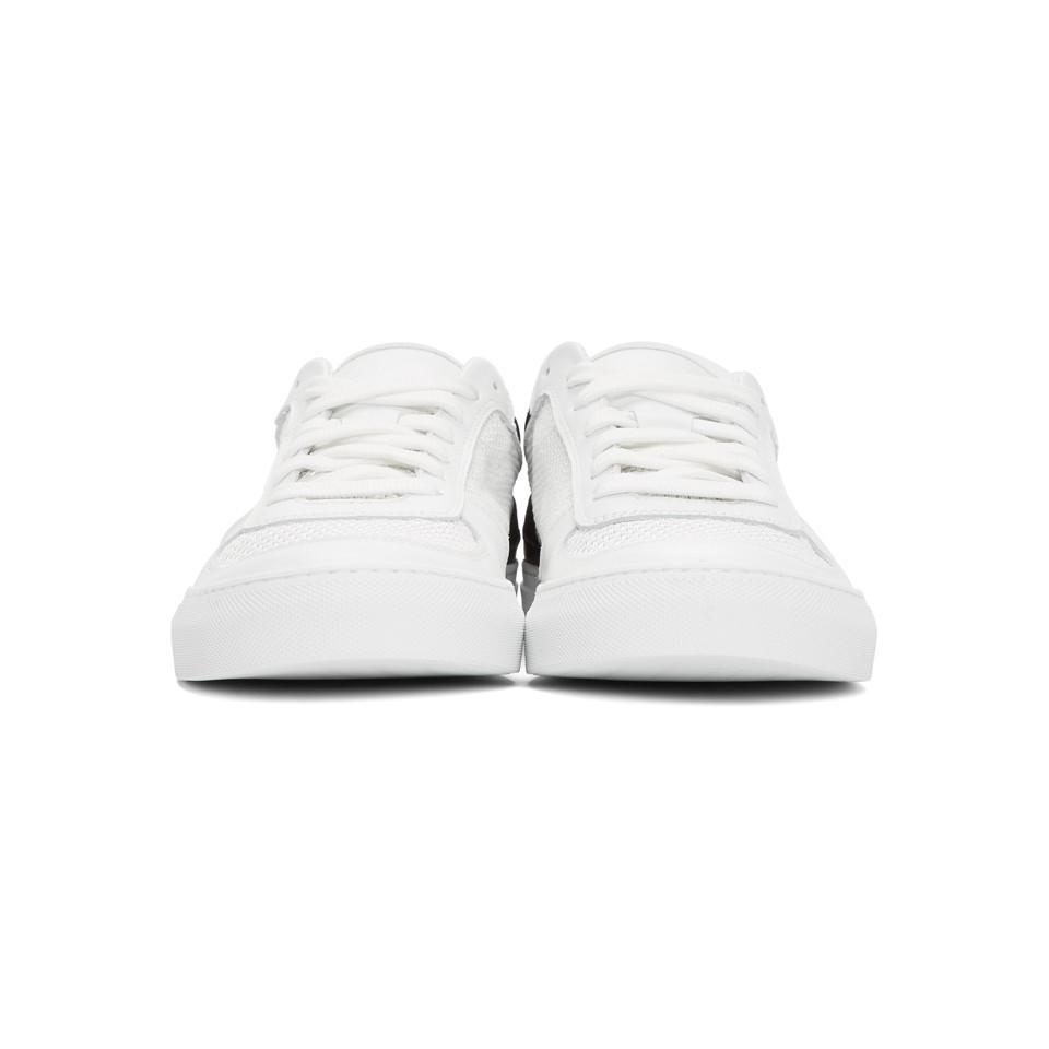 best loved 2ca3a 7381c stone-island--White-And-Black-Mesh-And-Leather-Sneakers.jpeg