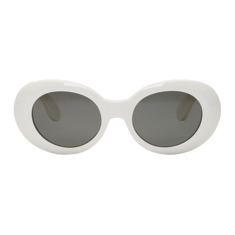Lyst - Lunettes de soleil rondes blanches Mustang Acne Studios en ... aae855b0d546